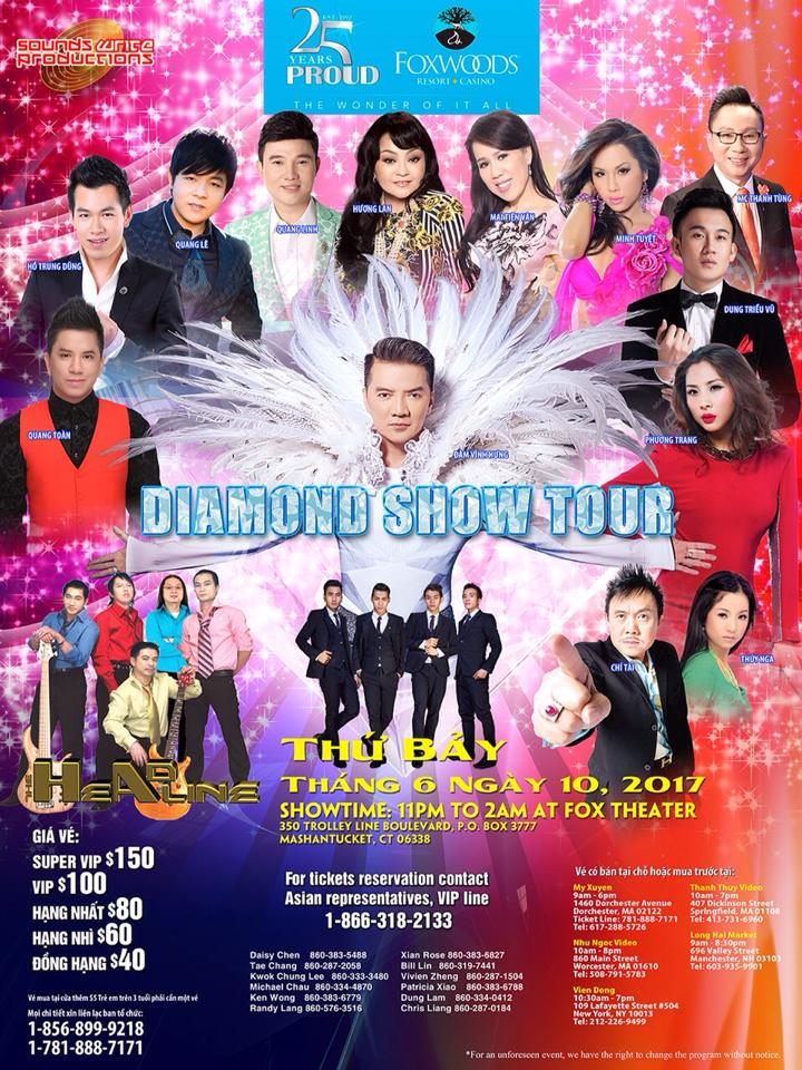 Diamond Show Tour Thứ 7 Ngày 10 Tháng 06 Năm 2017